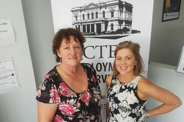 Denise and Elinor at smiling at OCTEC office
