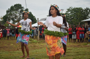 Girls from Goldie College doing a traditional Solomon Islands dance